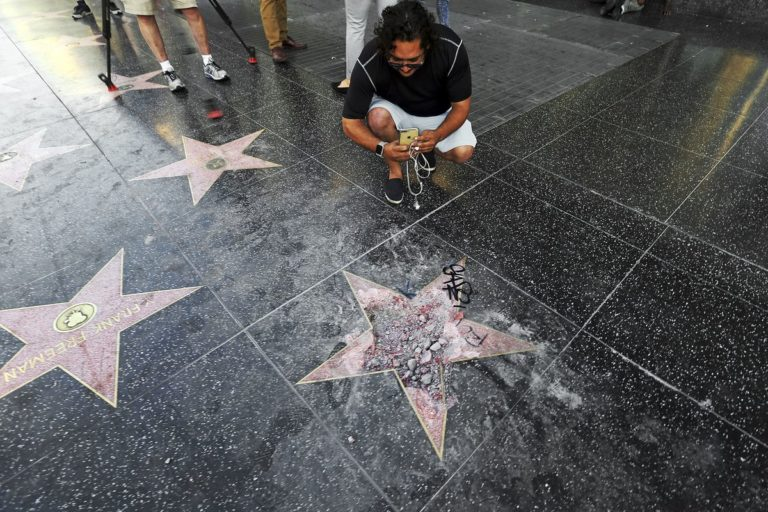 Trump's Hollywood Walk of Fame Star Painted With Black Lives Matter