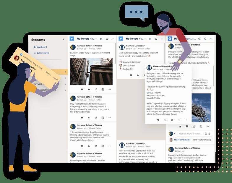 Hootsuite Engage Illustration