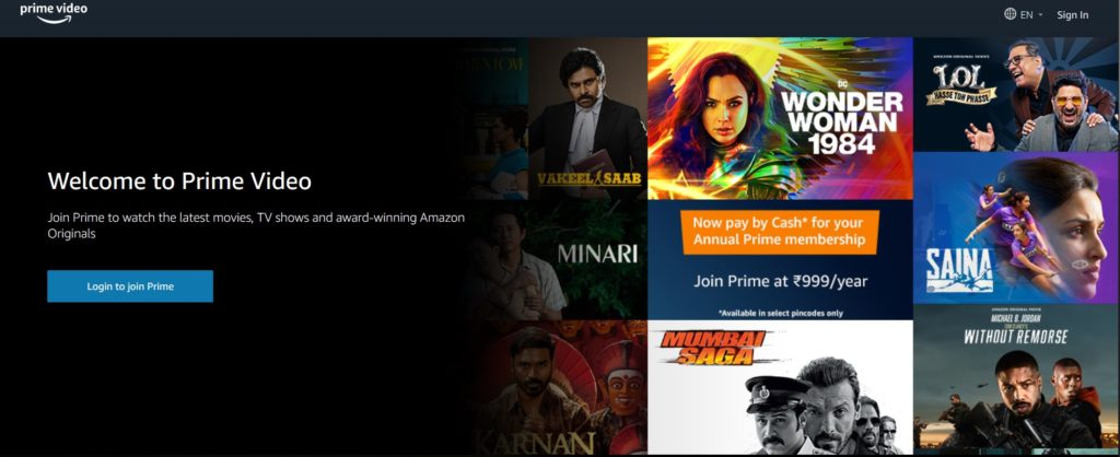 best video streaming services / Prime