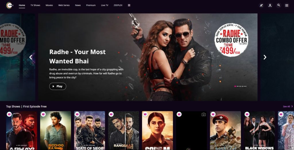 best video streaming services / Zee5