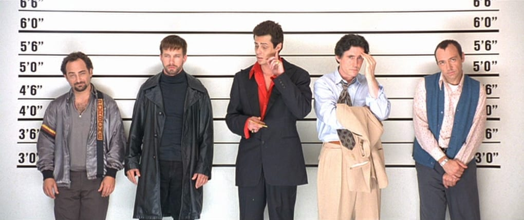 A still from The Usual Suspects, one of the best thriller movies from the 90s