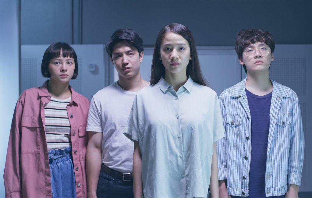 A still from Deep (2021) featuring Panisara Rikulsurakan as Jane, Kay Lertsittichai as Win, Supanaree Sutavijitvong as Cin and Krit Jeerapattananuwong as Peach