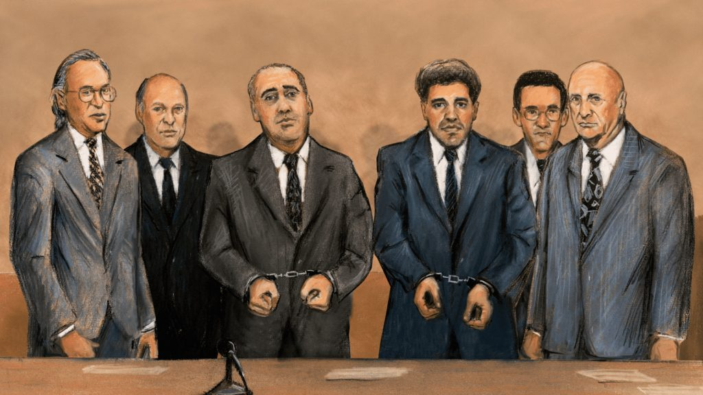 Cocaine Cowboys: The Kings of Miami season 1 courtroom drawing