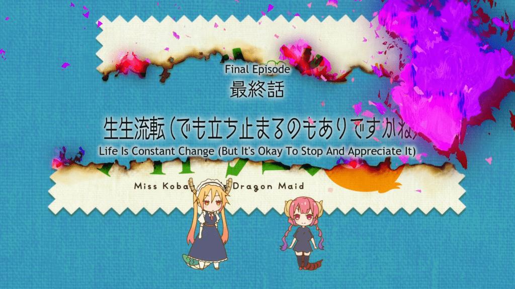 Miss Kobayashi's Dragon Maid Season 2 Episode 12 Title