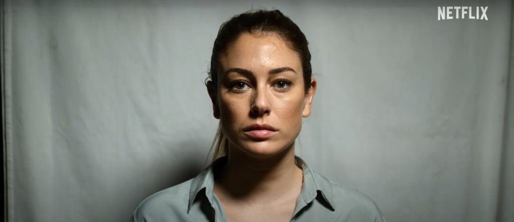 A still from Jaguar starring Blanca Suárez in the lead as Isabel.