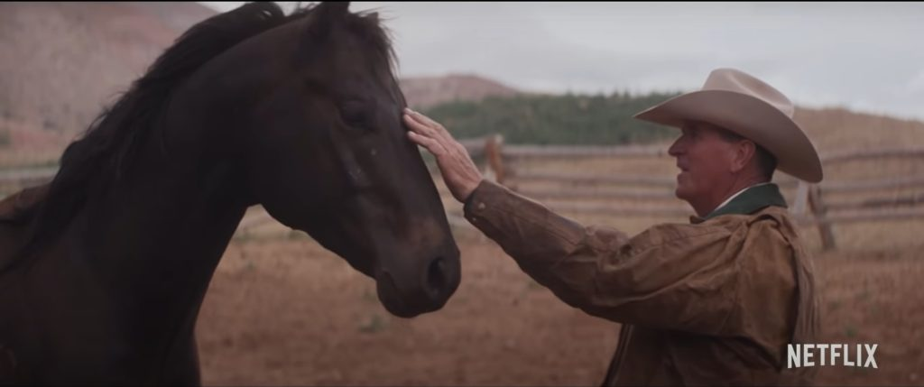 A still from My Heroes Were Cowboys featuring Robin Wiltshire at his ranch.